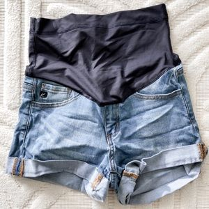 Pinkblush maternity jean shorts